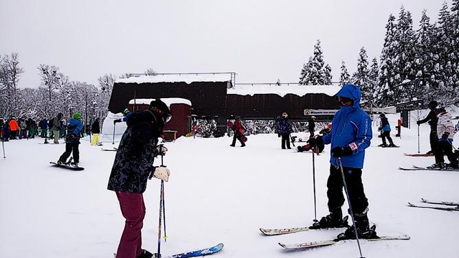 クロエさんのスキーレッスン。