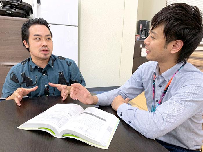 9.福田主任と談笑している岸本さん