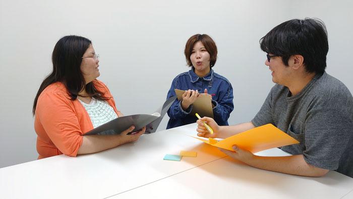 画像①:(左から)新垣さん、嘉数さん、清太朗さん